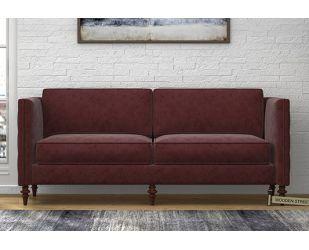 Marley 3 Seater Sofa (Velvet, Smocked)