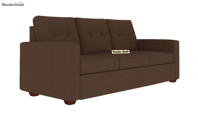 Nicolas 3 Seater Sofa (Classic Brown)-2