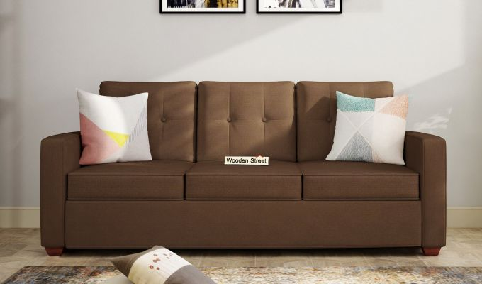 Nicolas 3 Seater Sofa (Classic Brown)-1