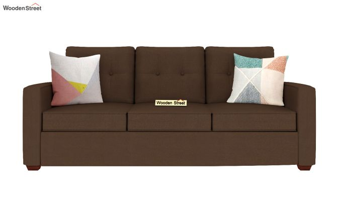 Nicolas 3 Seater Sofa (Classic Brown)-3
