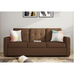 Nicolas 3 Seater Sofa (Classic Brown)