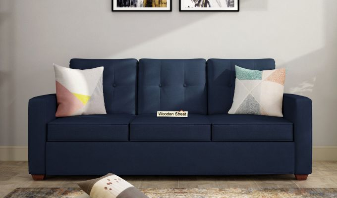 Nicolas 3 Seater Sofa (Indigo Ink )-1