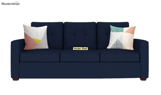 Nicolas 3 Seater Sofa (Indigo Ink )-3