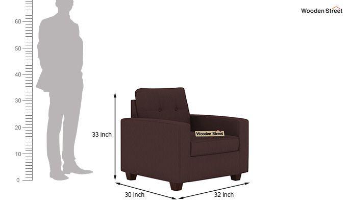 Nicolas 1 Seater Sofa (Classic Brown)-3
