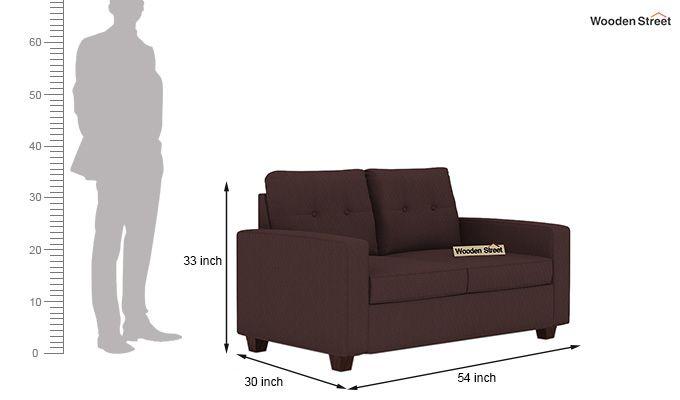 Nicolas 2 Seater Sofa (Classic Brown)-3