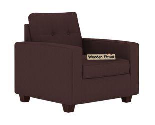 Nicolas 1 Seater Sofa (Classic Brown)