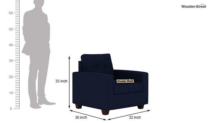 Nicolas 1 Seater Sofa (Indigo Ink)-3
