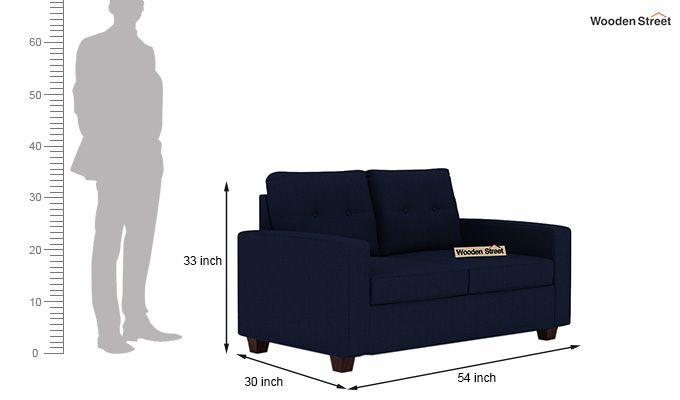 Nicolas 2 Seater Sofa (Indigo Ink)-3