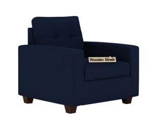 Nicolas 1 Seater Sofa (Indigo Ink)