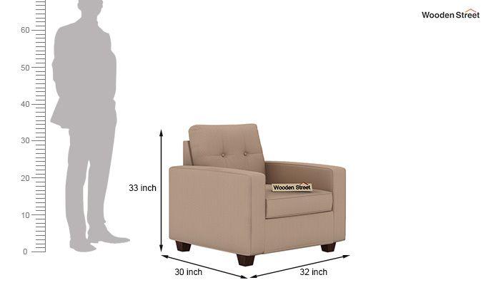 Nicolas 1 Seater Sofa (Irish Cream)-4