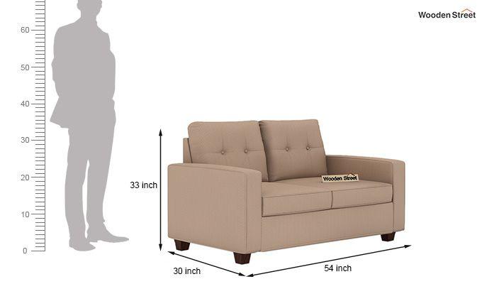 Nicolas 2 Seater Sofa (Irish Cream)-3