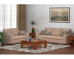Nicolas 3+2 Fabric Sofa Set  (Irish Cream)