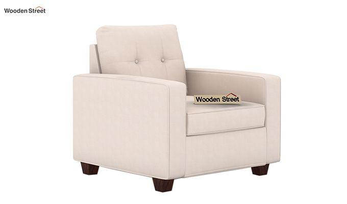 Nicolas 1 Seater Sofa (Ivory Nude)-1