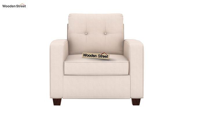 Nicolas 1 Seater Sofa (Ivory Nude)-2