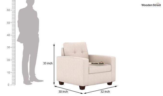 Nicolas 1 Seater Sofa (Ivory Nude)-3