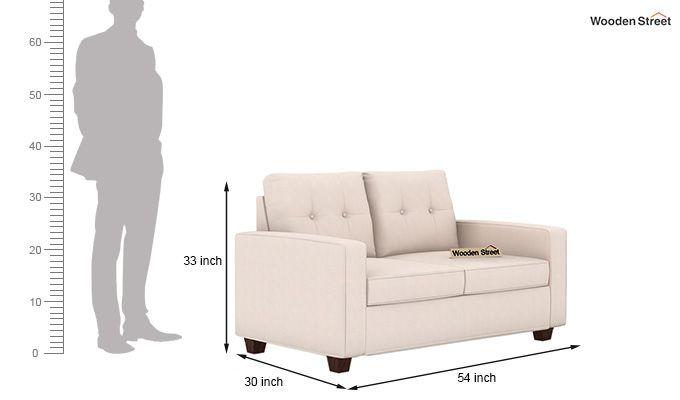 Nicolas 2 Seater Sofa (Ivory Nude)-3