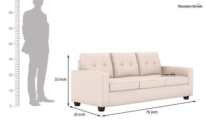 Nicolas 3 Seater Sofa (Ivory Nude)-3
