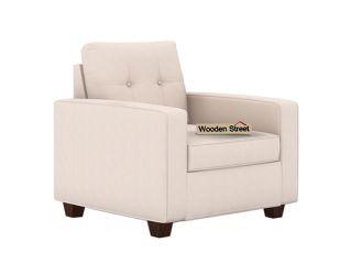 Nicolas 1 Seater Sofa (Ivory Nude)
