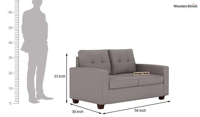 Nicolas 2 Seater Sofa (Warm Grey)-3