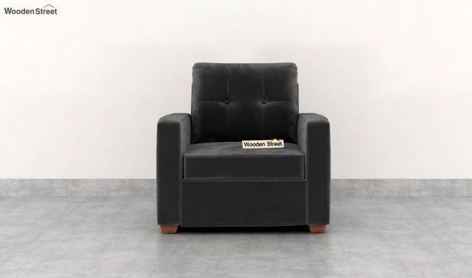 Nicolas 2 Seater Sofa (Velvet, Graphite Grey)-6