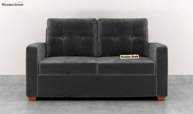 Nicolas 2 Seater Sofa (Velvet, Graphite Grey)-3