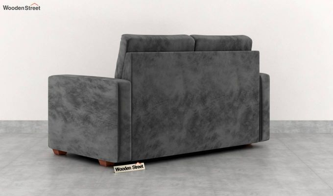 Nicolas 2 Seater Sofa (Velvet, Graphite Grey)-4