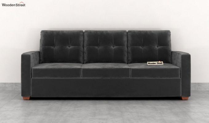Nicolas 2 Seater Sofa (Velvet, Graphite Grey)-8