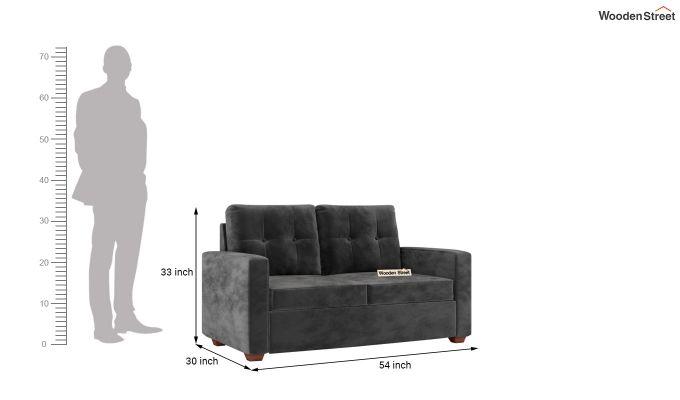 Nicolas 2 Seater Sofa (Velvet, Graphite Grey)-10