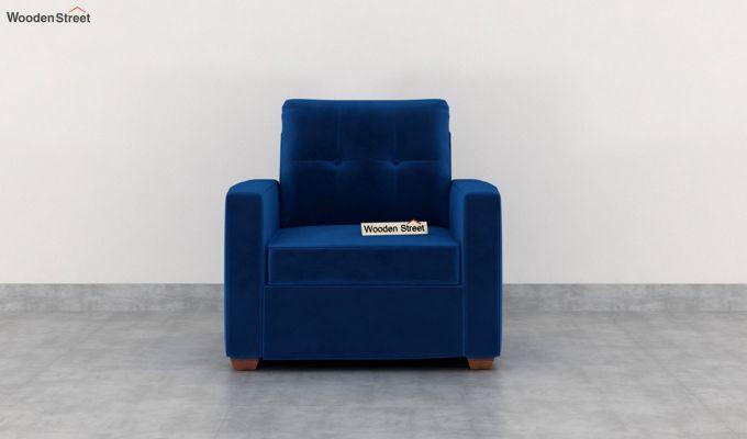 Nicolas 2 Seater Sofa (Velvet, Indigo Blue)-6