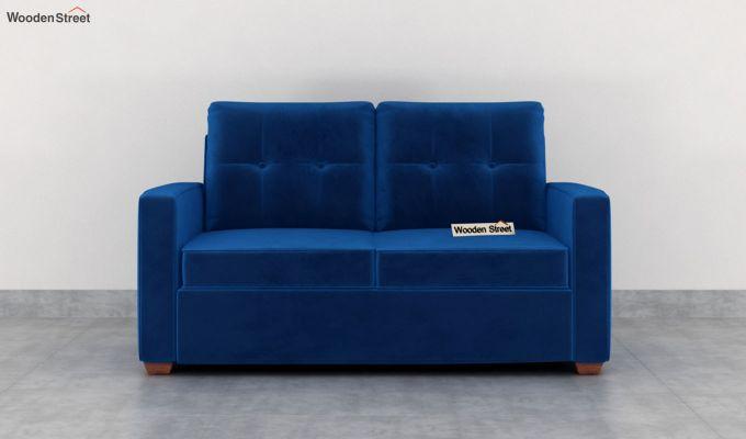 Nicolas 2 Seater Sofa (Velvet, Indigo Blue)-3