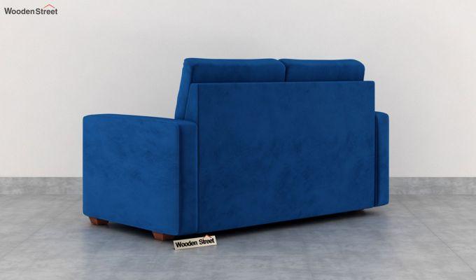 Nicolas 2 Seater Sofa (Velvet, Indigo Blue)-4