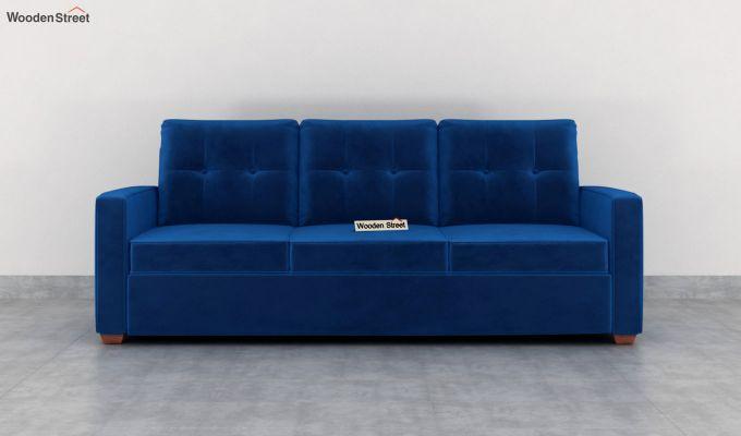 Nicolas 2 Seater Sofa (Velvet, Indigo Blue)-8