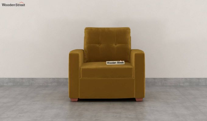 Nicolas 2 Seater Sofa (Velvet, Chestnut Brown)-6