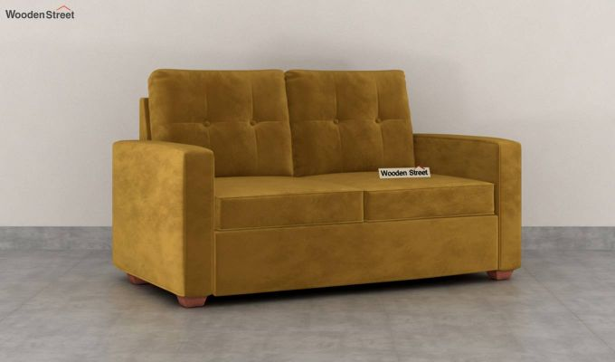 Nicolas 2 Seater Sofa (Velvet, Chestnut Brown)-2