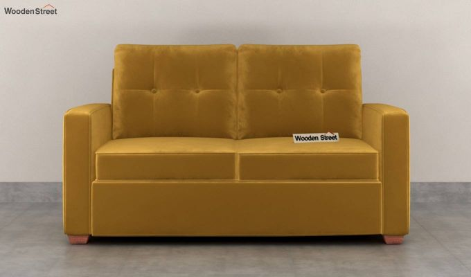 Nicolas 2 Seater Sofa (Velvet, Chestnut Brown)-3