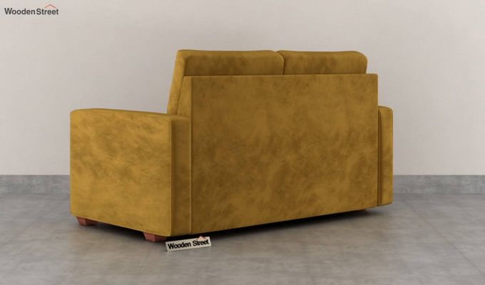 Nicolas 2 Seater Sofa (Velvet, Chestnut Brown)-4