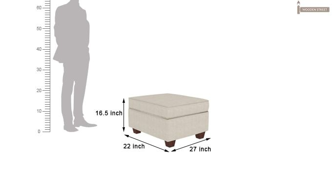 Nicolas Left Aligned 3 Seater + Chaise + Ottoman (Ivory Nude)-7