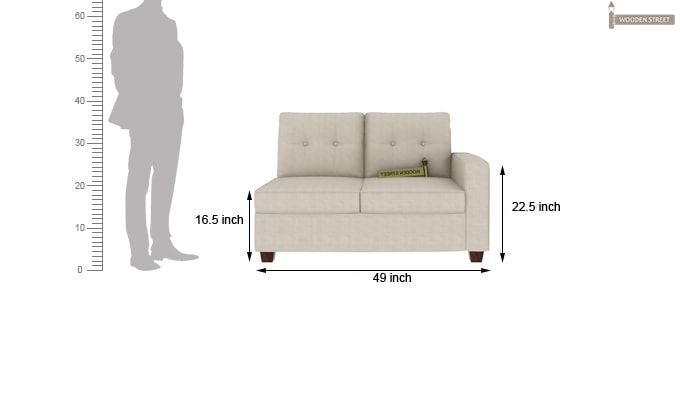 Nicolas Left Aligned 2 Seater + Chaise (Ivory Nude)-5