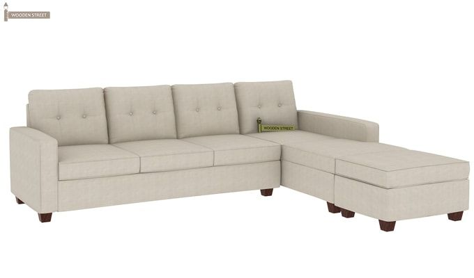 Nicolas Right Aligned 3 Seater + Chaise + Ottoman (Ivory Nude)-1