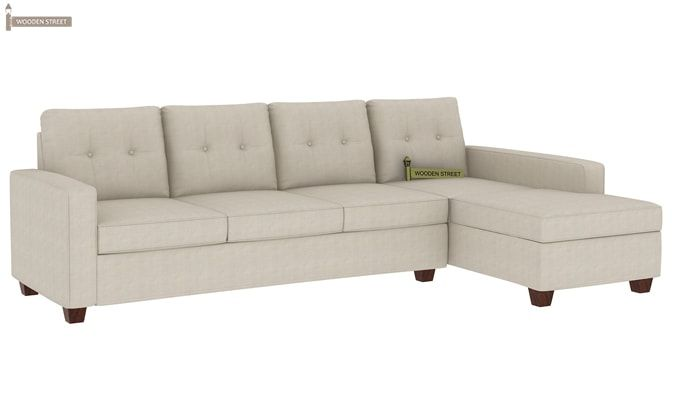 Nicolas Right Aligned 3 Seater + Chaise (Ivory Nude)-1