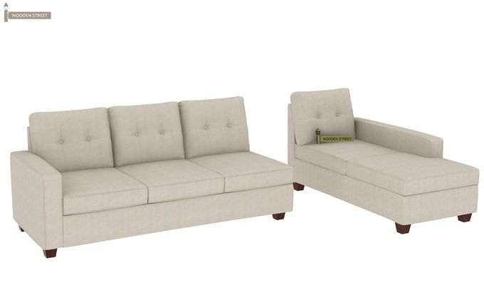 Nicolas Right Aligned 3 Seater + Chaise (Ivory Nude)-3