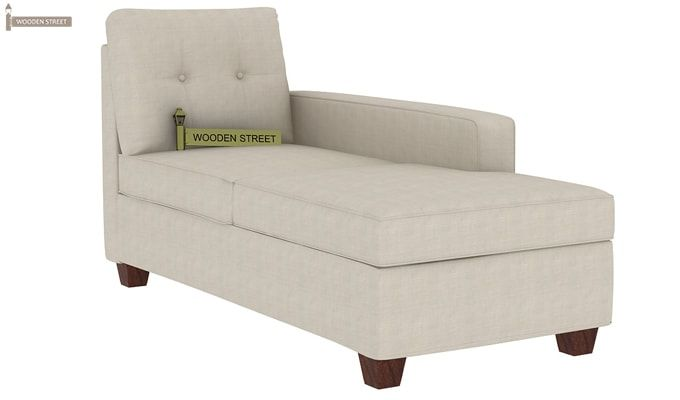 Nicolas Right Aligned 3 Seater + Chaise + Ottoman (Ivory Nude)-3