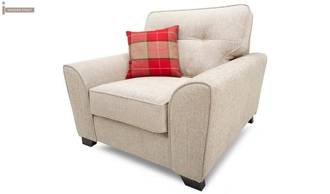 Archerd 1 Seater Fabric Sofa (Ivory)-2