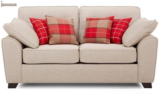 Archerd 2 Seater Fabric Sofa (Ivory)-1