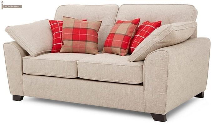 Archerd 2 Seater Fabric Sofa (Ivory)-2