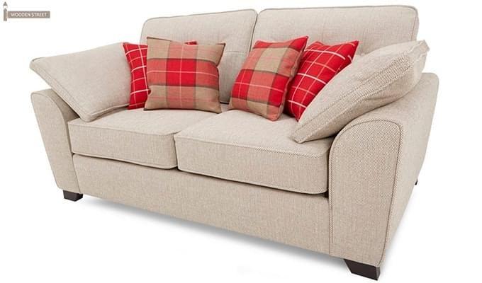 Archerd 2 Seater Fabric Sofa (Ivory)-3