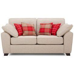 Archerd 2 Seater Fabric Sofa (Ivory)