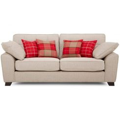 Archerd 3 Seater Fabric Sofa (Ivory)