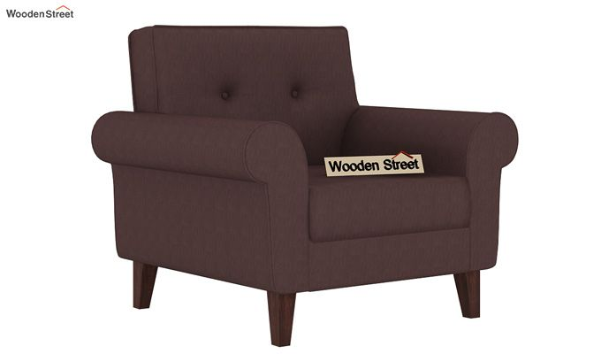 Orlando 1 Seater Sofa (Classic Brown)-1