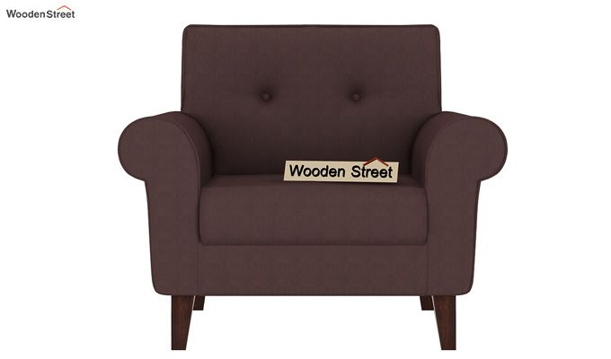Orlando 1 Seater Sofa (Classic Brown)-2